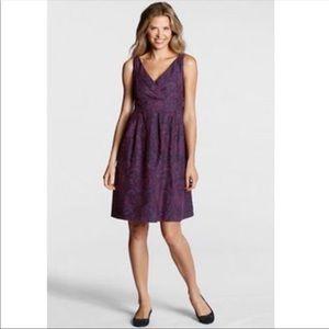 Land's End Paisley Print Silk Blend Dress | 20W